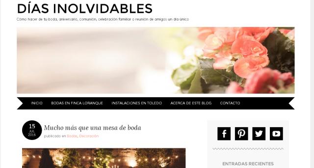 Finca Loranque Bodas en WordPress